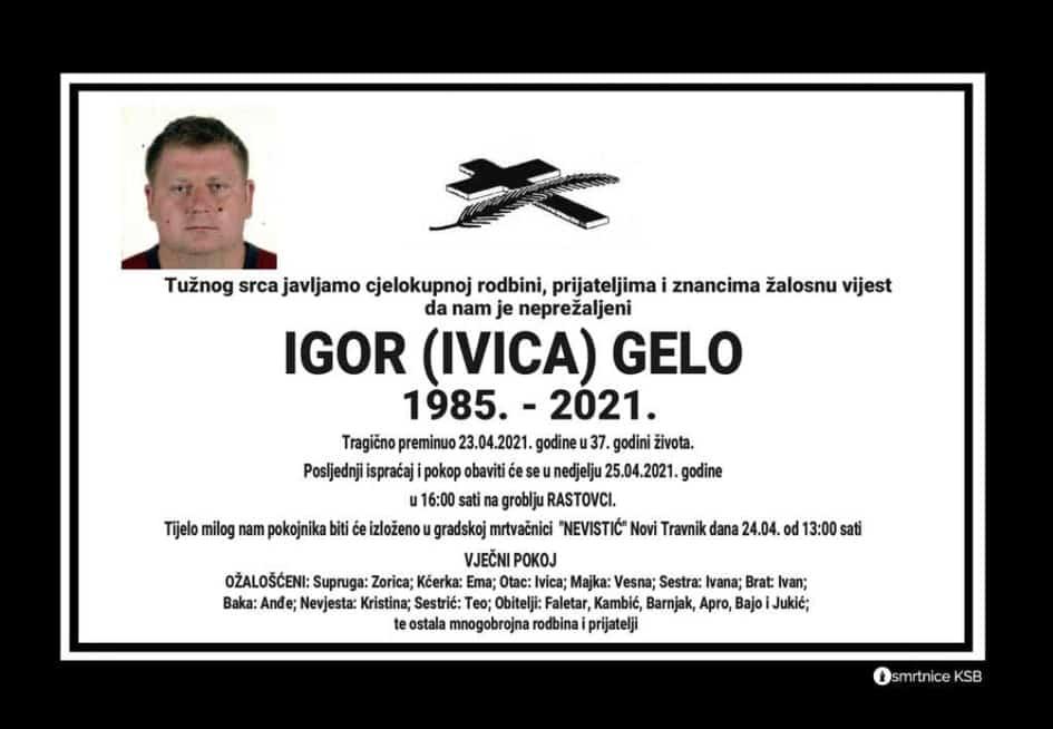 Preminuo Igor Gelo