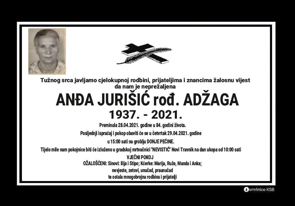 Preminula Anđa Jurišić