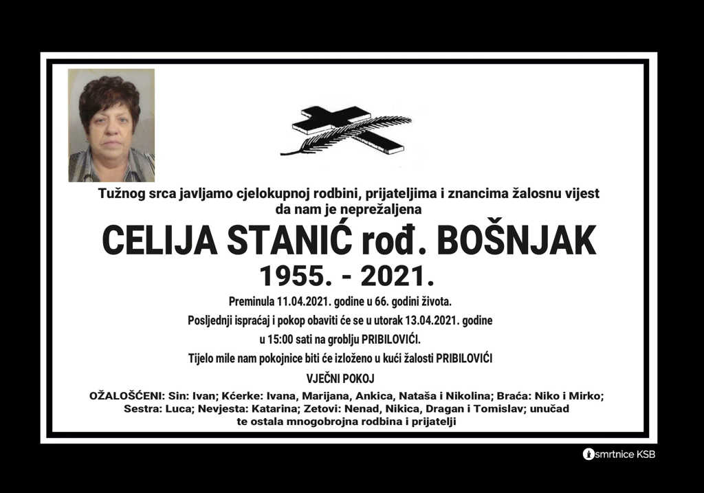 Preminula Celija Stanić