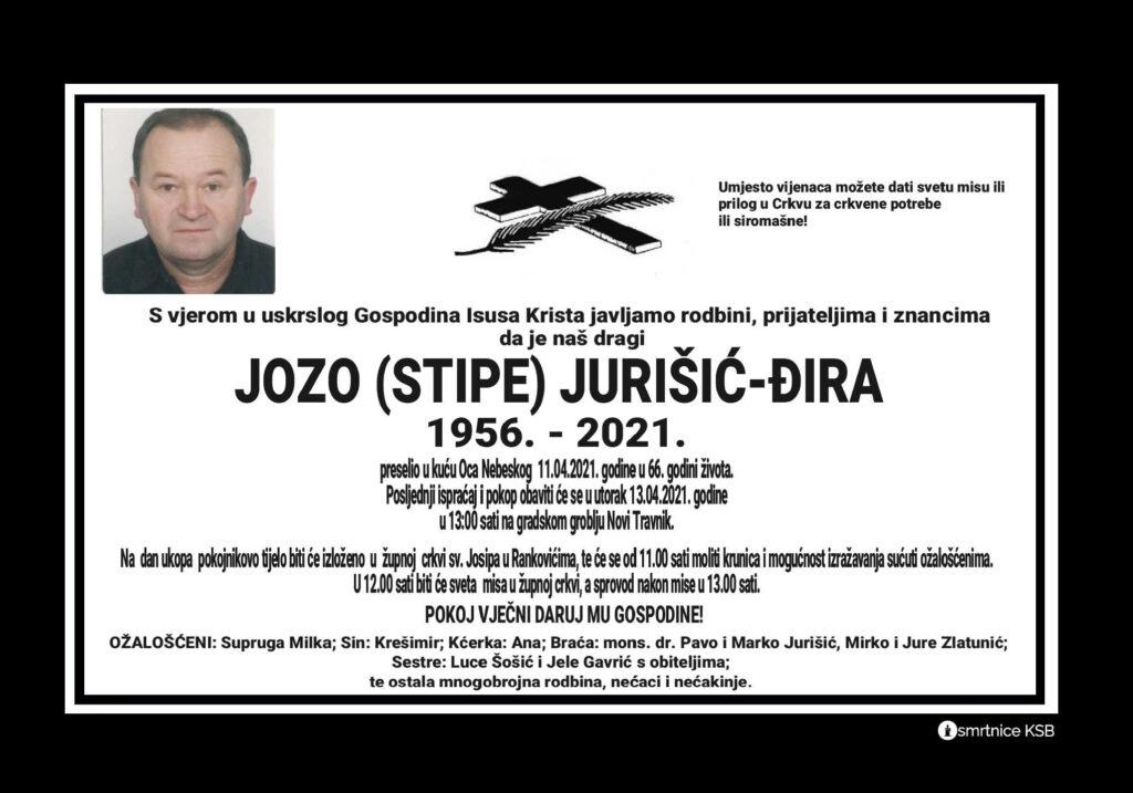 Preminuo Jozo Jurišić - Đira
