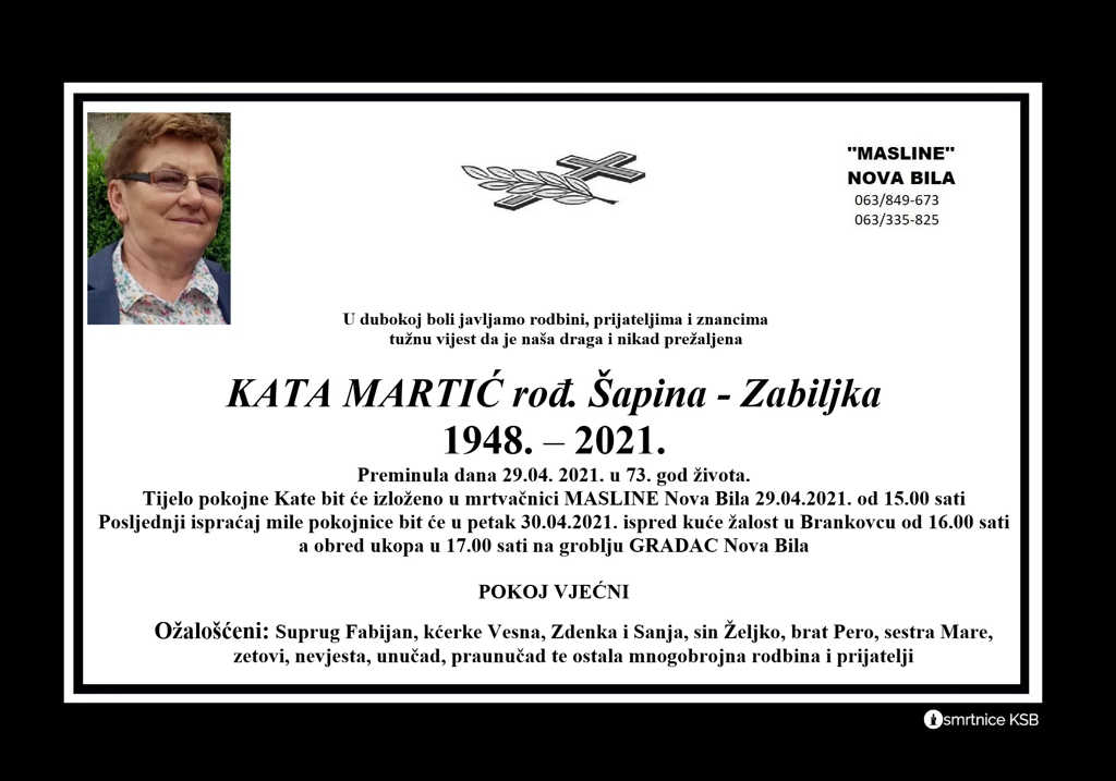 Preminula Kata Martić