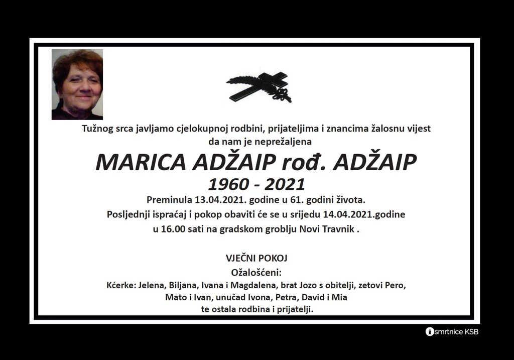 Preminula Marica Adžaip