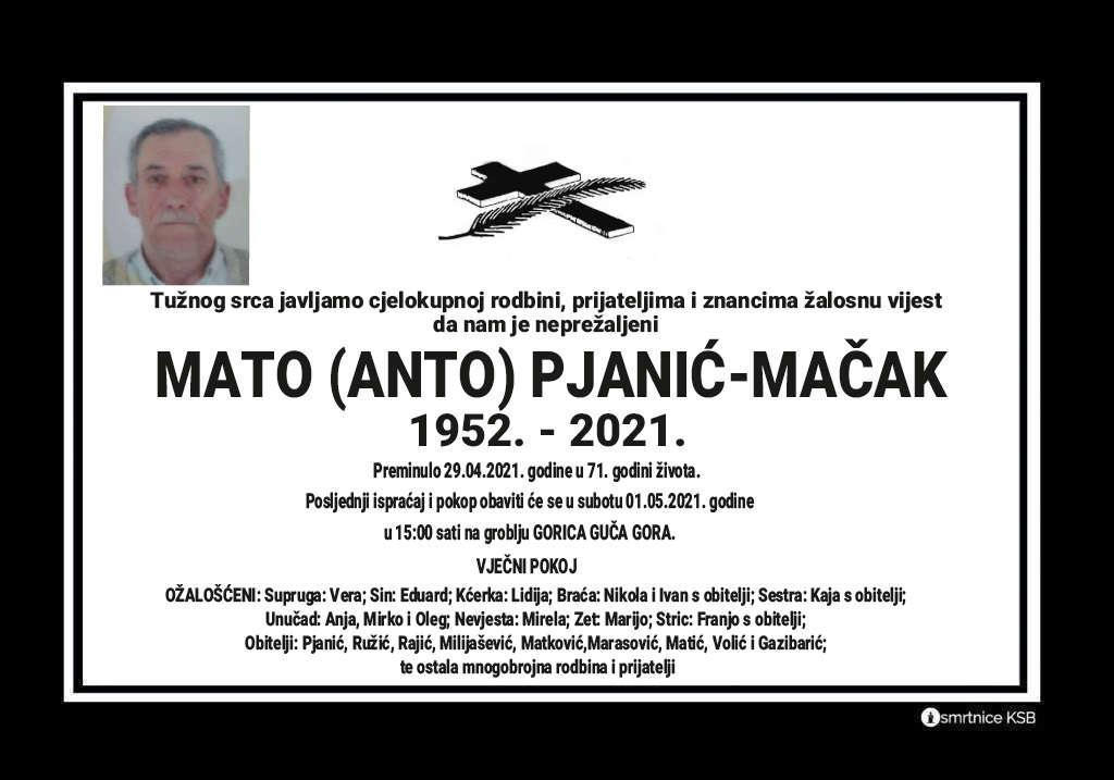 Preminuo Mato Pjanić-Mačak