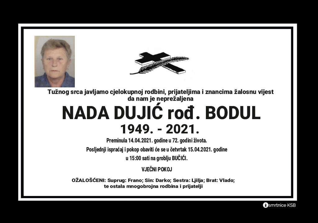 Preminula Nada Dujić