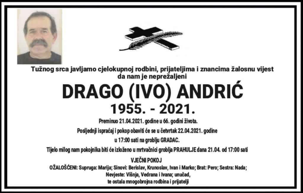 Preminuo Drago Andrić
