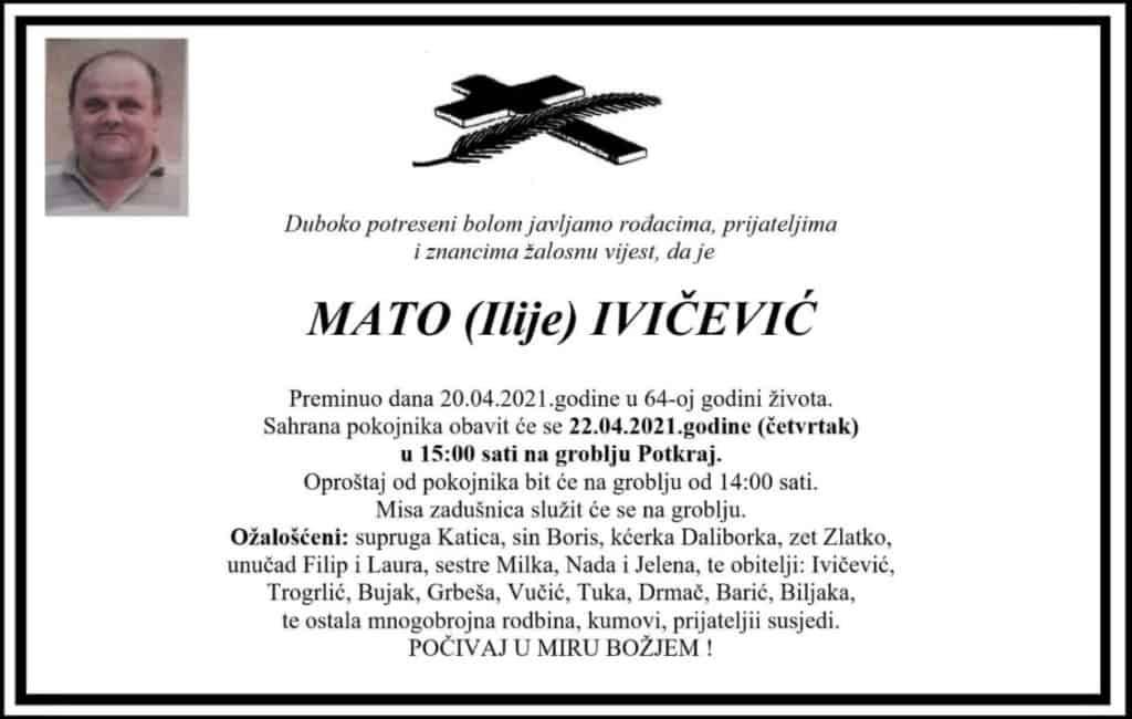 Preminuo Mato Ivičević