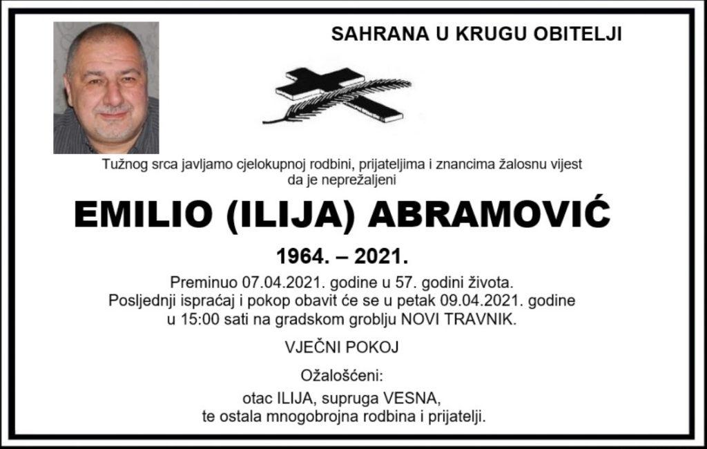 Preminuo Emilio Abramović