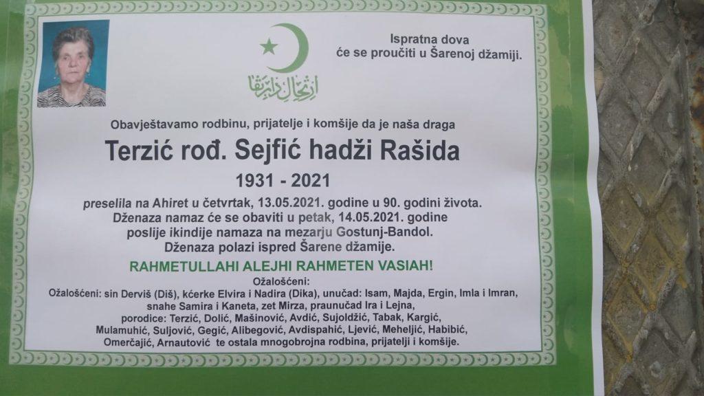 Preminula Terzić hadži Rašida