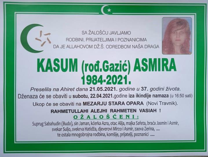 Preminula Asmira Kasum