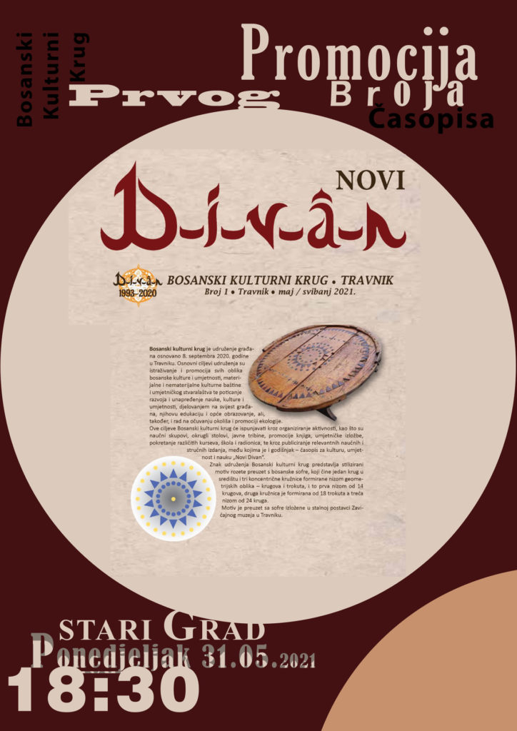 Danas promocija prvog časopisa Novi Divan