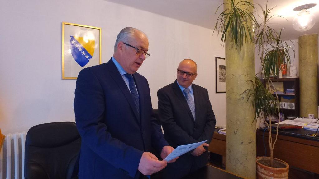 (FOTO/VIDEO) Izvršena primopredaja dužnosti između Hadžiemrića i Dautovića