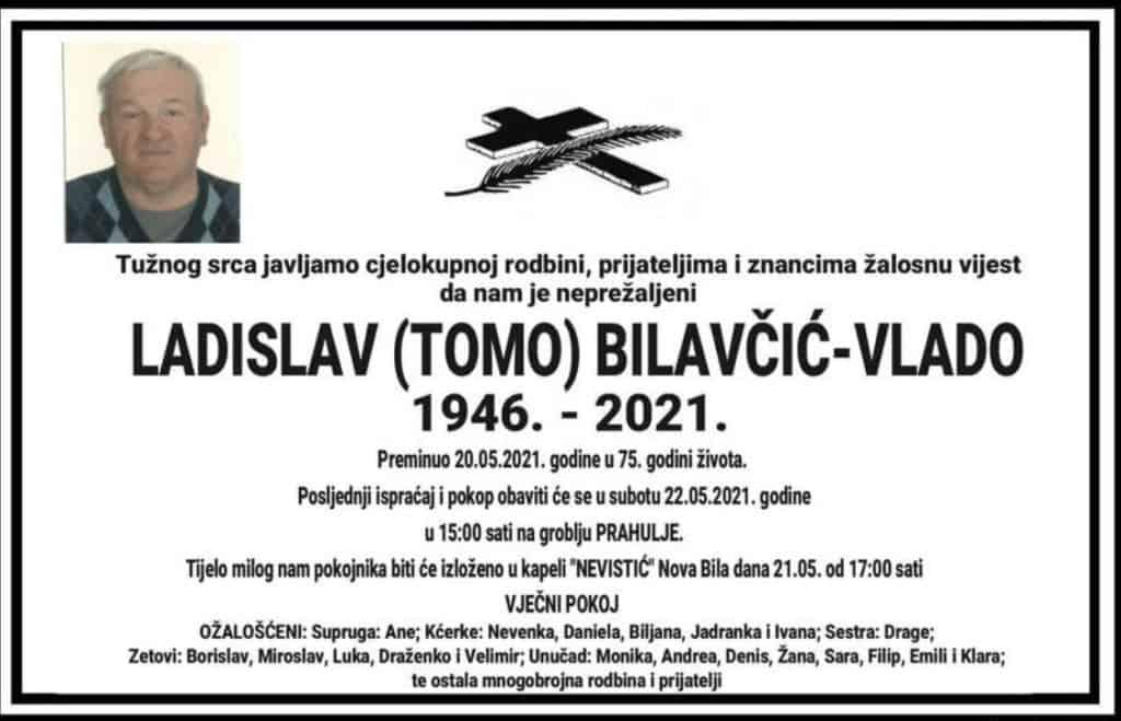Preminuo Ladislav Bilavčić
