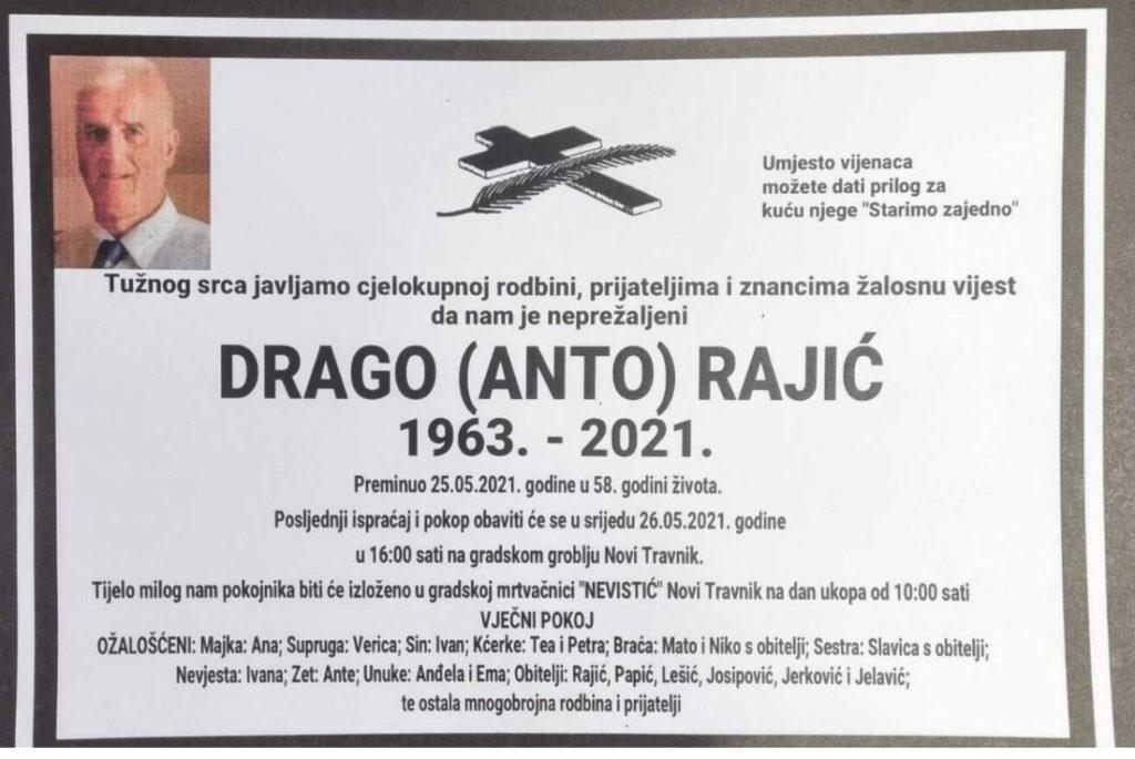 Preminuo Drago Rajić