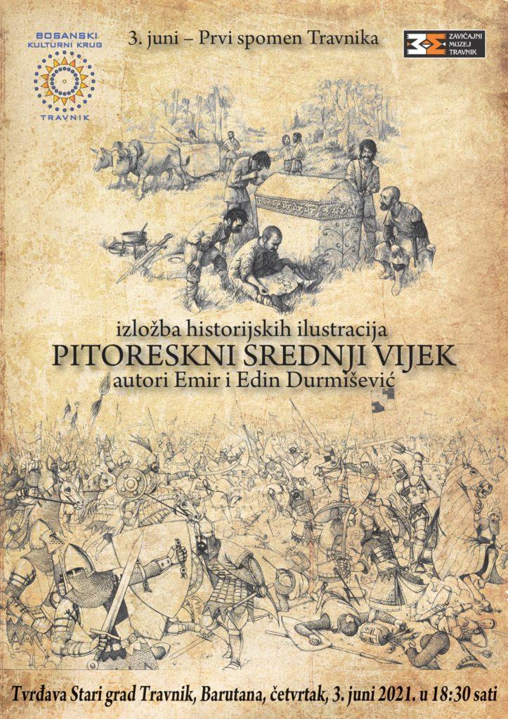 U povodu 3. juna - Prvog spomena Travnika danas izložba historijskih ilustracija