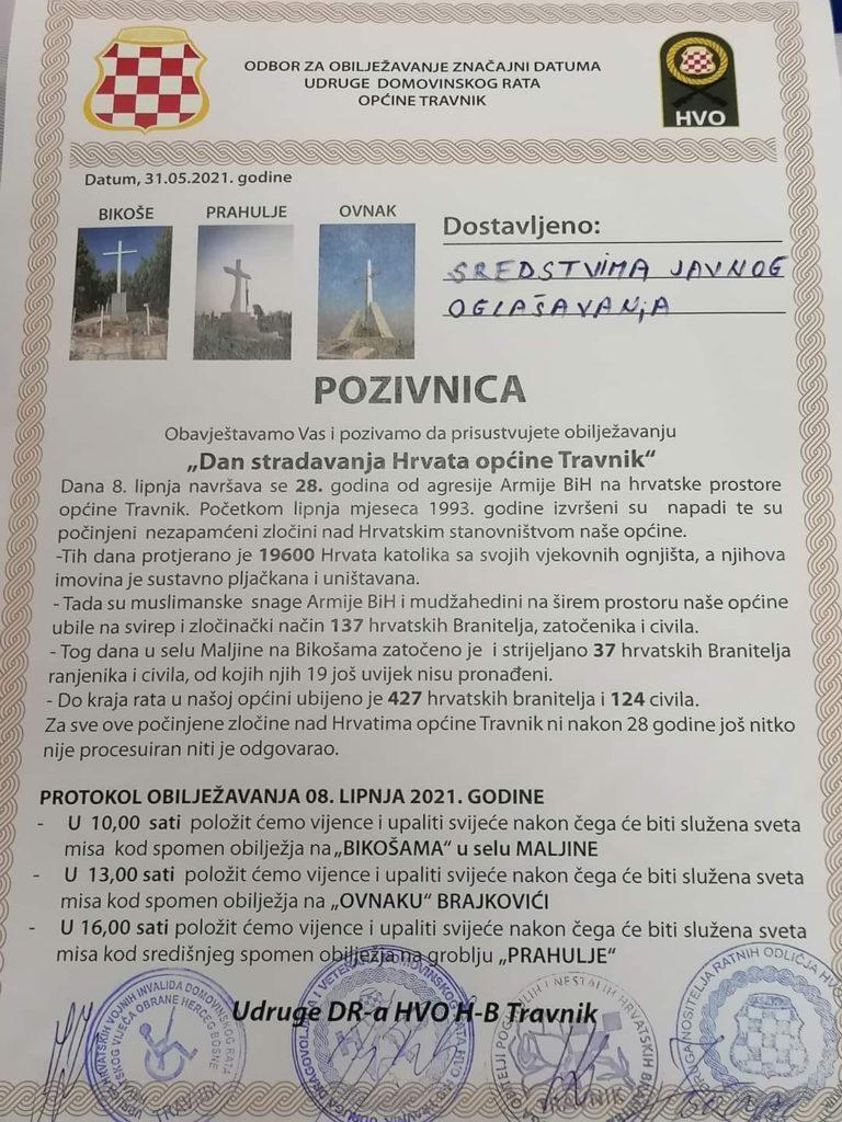 Dan stradanja Hrvata općine Travnik