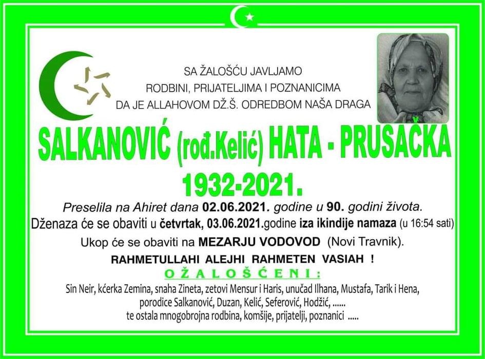 Preminula Hata-Prusačka Salkanović