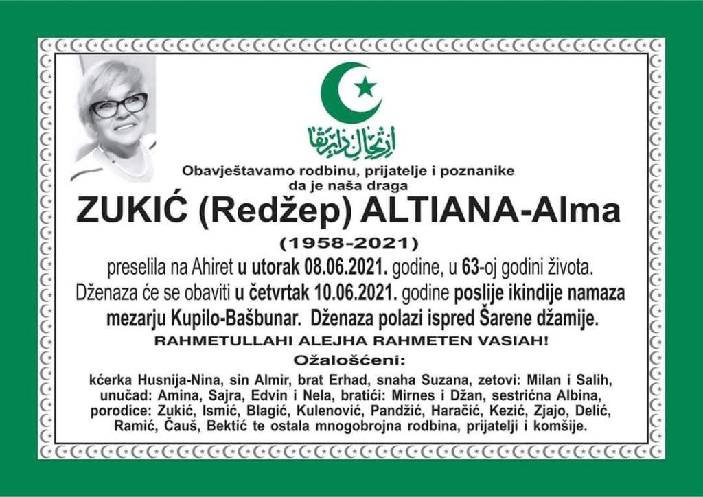 Preminula Altiana Zukić