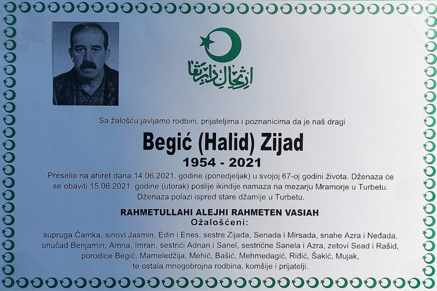 Preminuo Zijad Begić