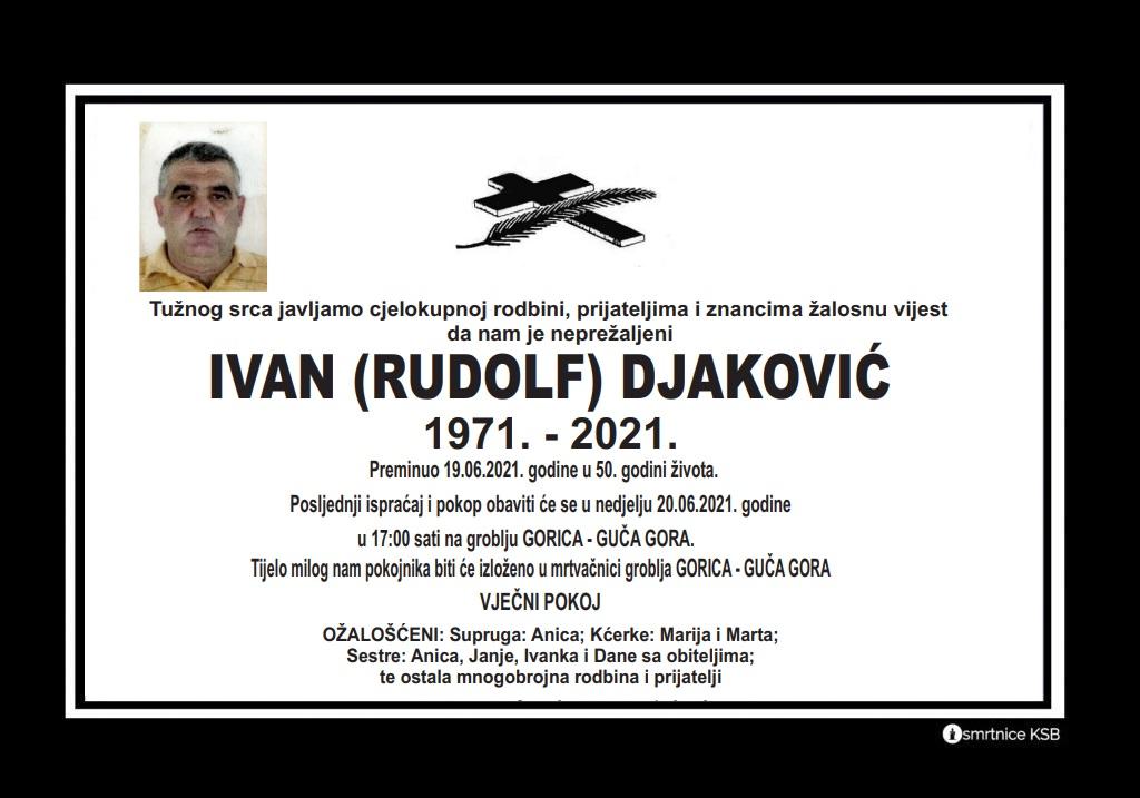Preminuo Ivan Djaković