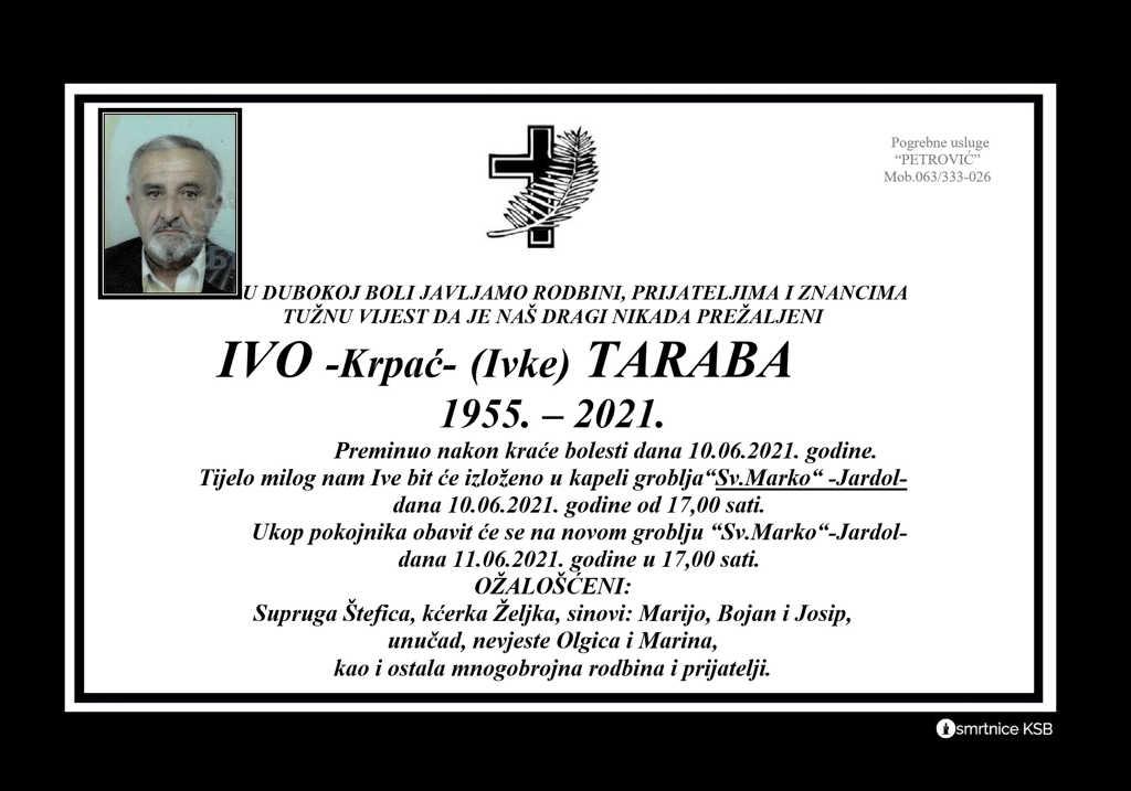 Preminuo Ivo Krpać Taraba
