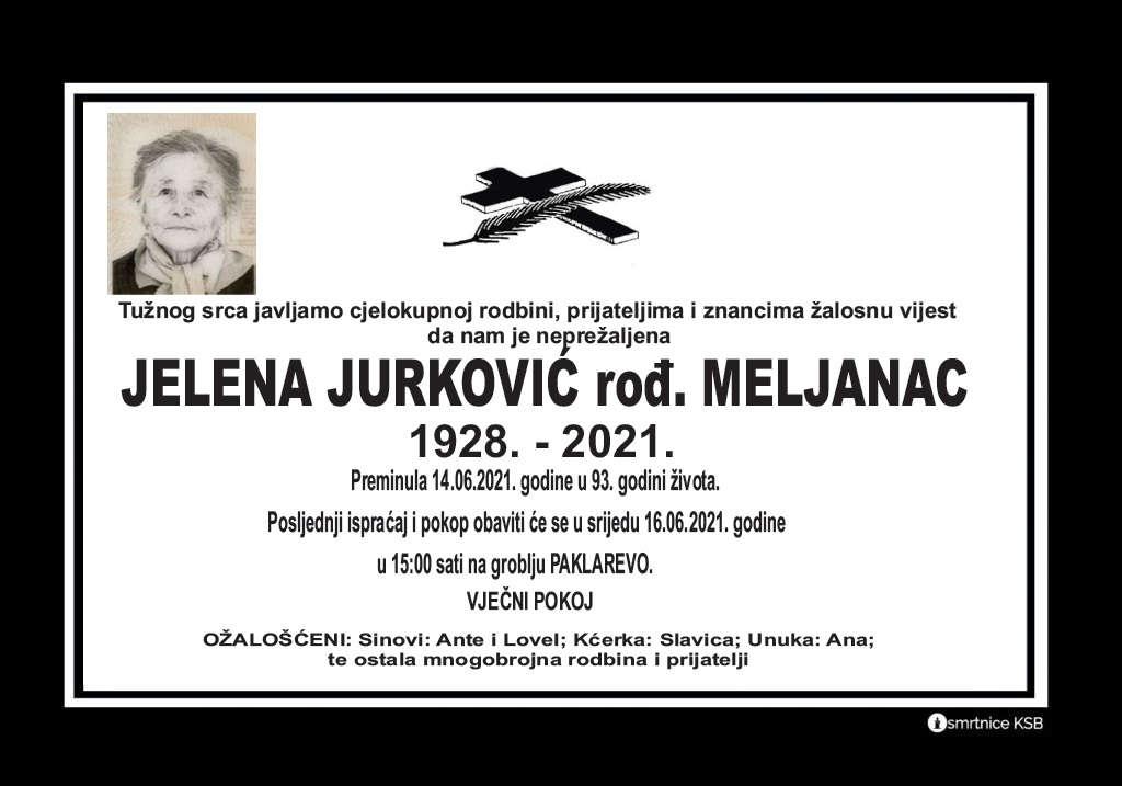 Preminula Jelena Jurković
