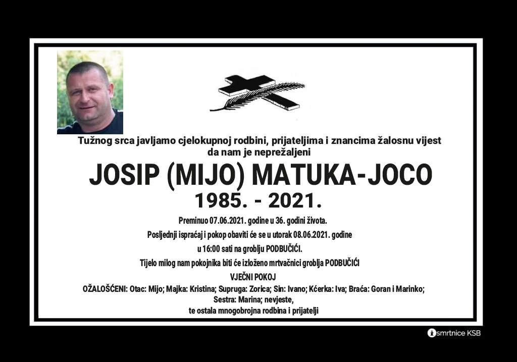 Preminuo Josip Matuka-Joco