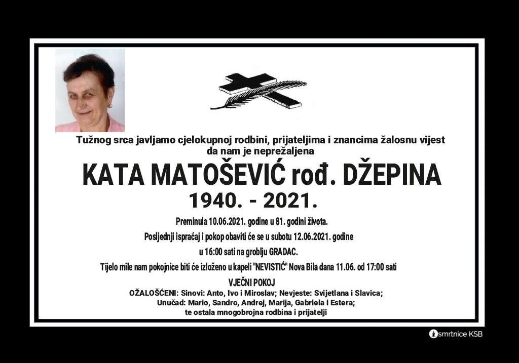 Preminula Kata Matošević