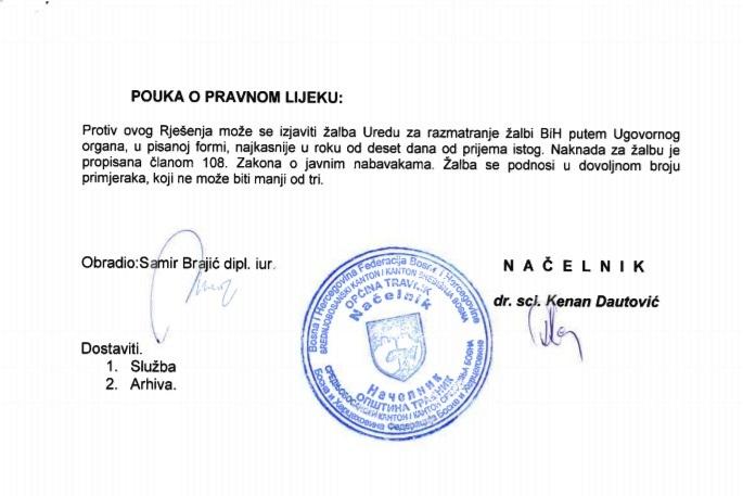 Poništen postupak/ Nitko nije dostavio ponudu Općini Travnik za nabavku hrane za napuštene životinje