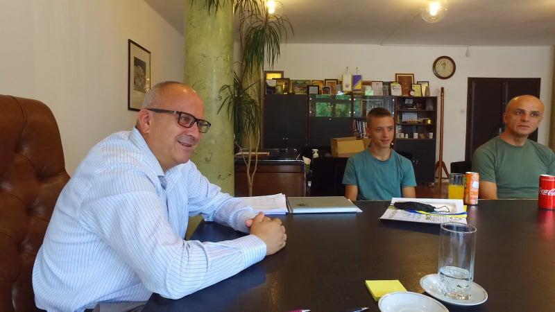 (FOTO) Dautović primio državnog prvaka u karateu, Travničanina Kerima Jašarevića