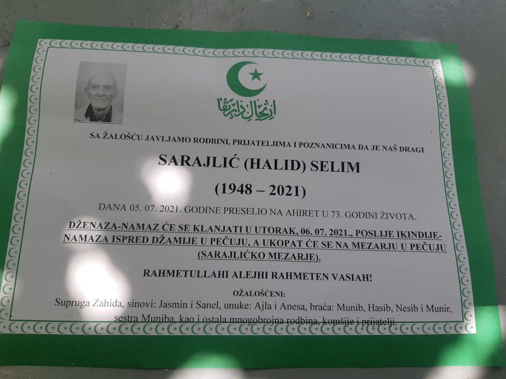 Preminuo Selim Sarajlić