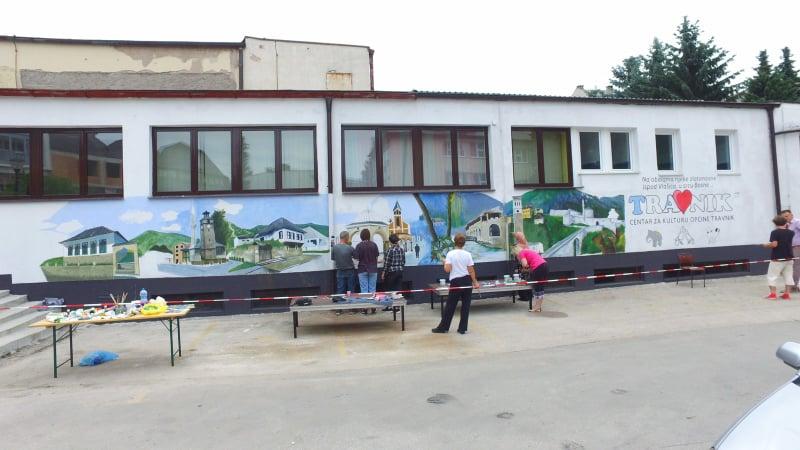 NekArt/ Travnički mural poprima konačni izgled