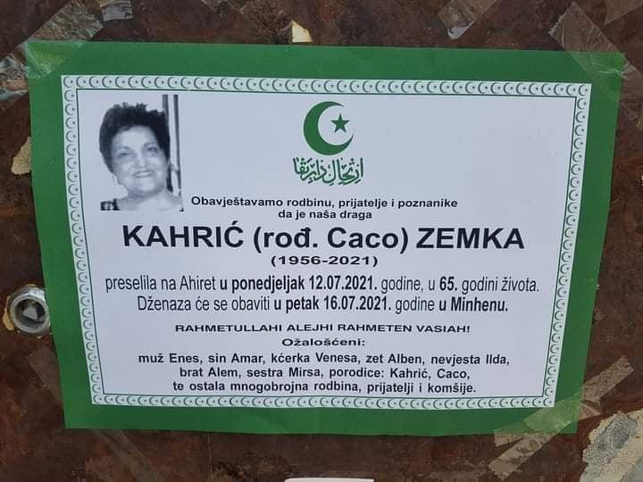 Preminula Zemka Kahrić