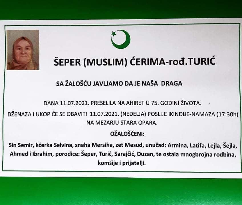 Preminula Šeper Ćerima