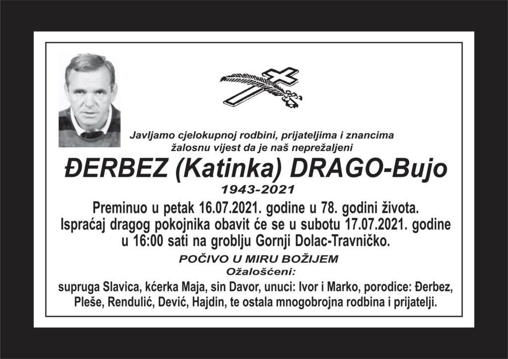 Preminuo Drago Đerbez
