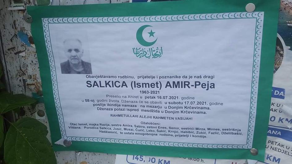 Preminuo Amir-Peja Salkica