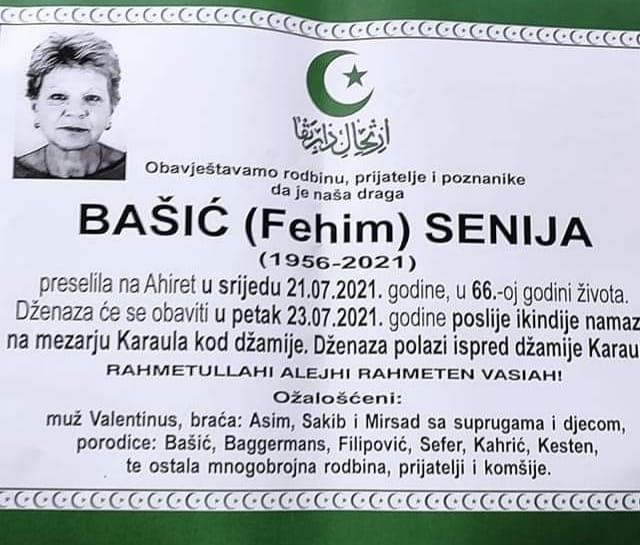 Preminula Senija Bašić