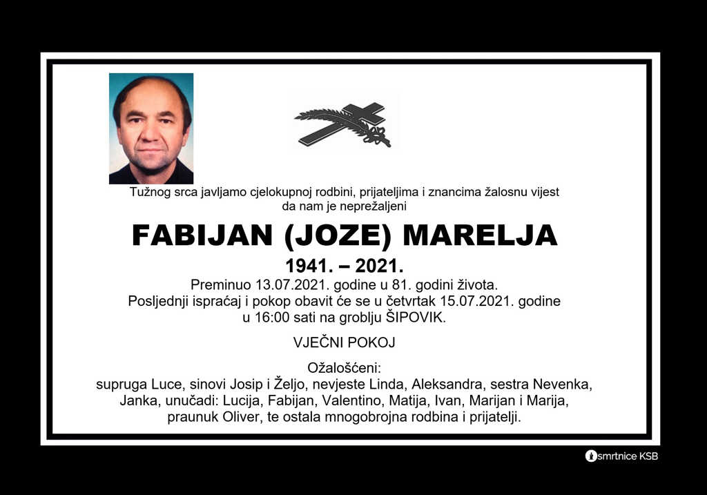 Preminuo Fabijan Marelja