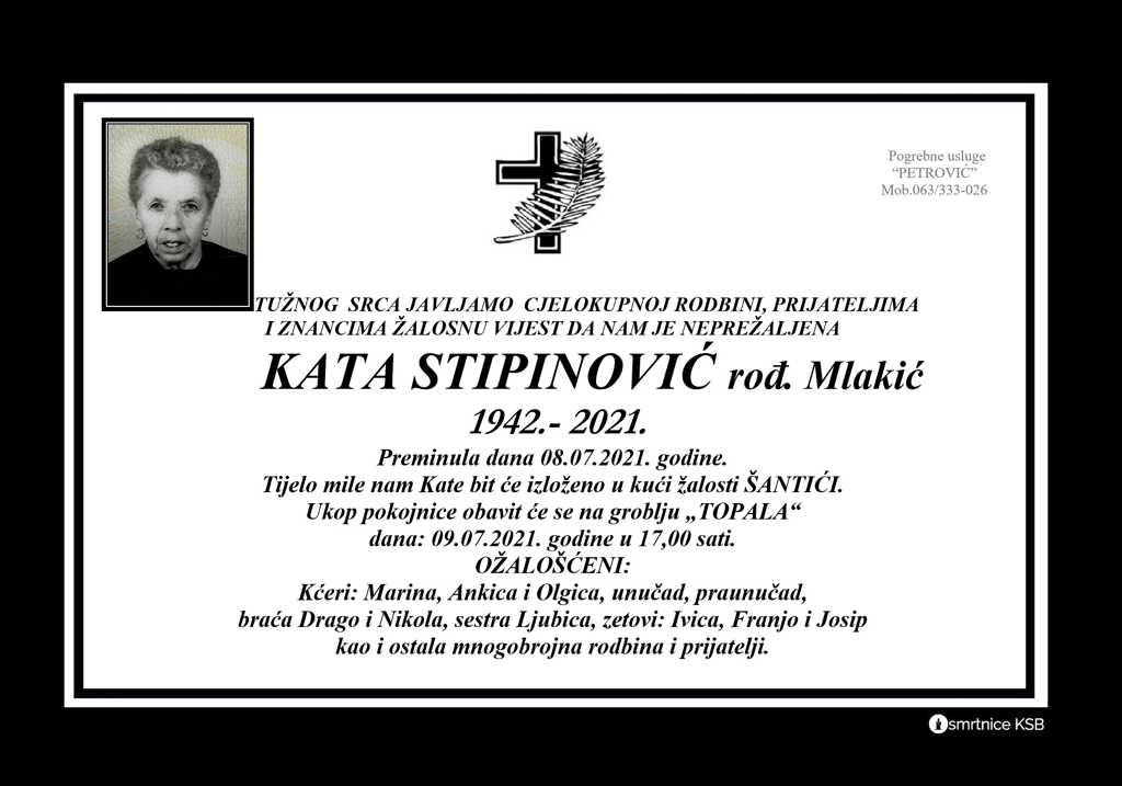 Preminula Kata Stipinović