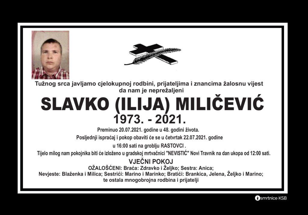 Preminuo Slavko Miličević