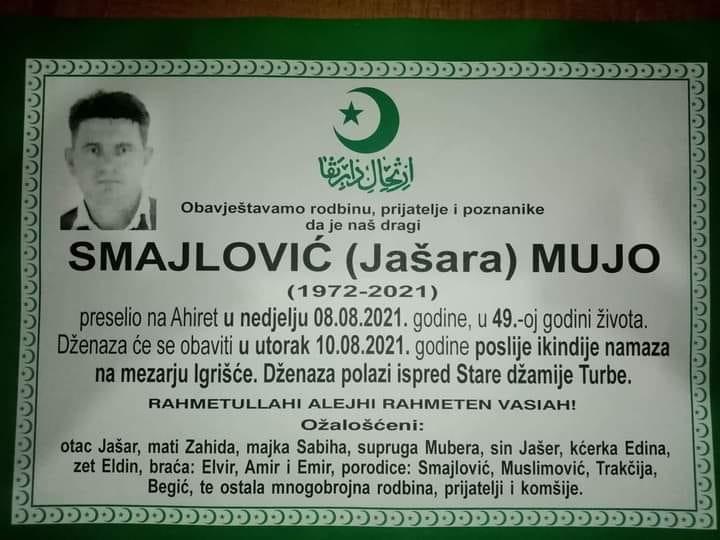 Preminuo Mujo Smajlović