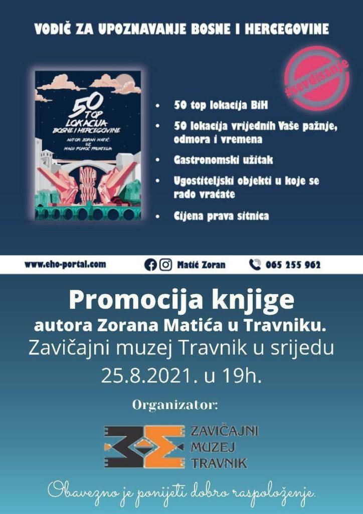 Večeras u Travniku promocija knjige Zorana Matića