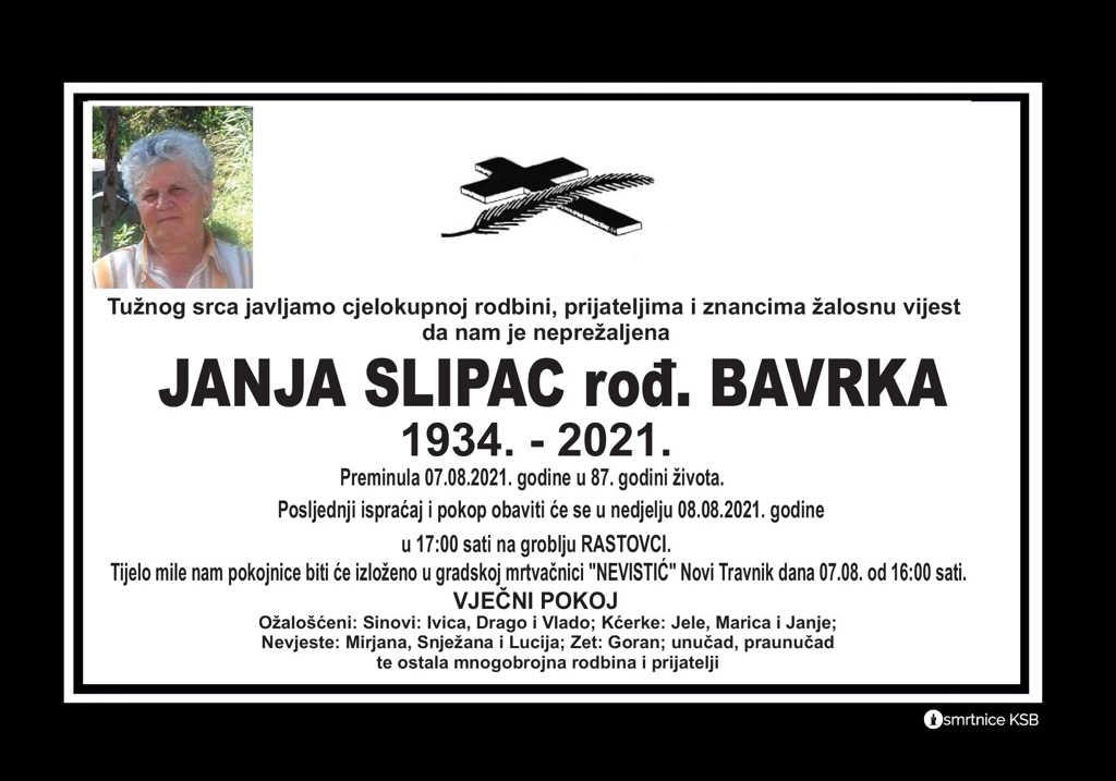 Preminula Janja Slipac