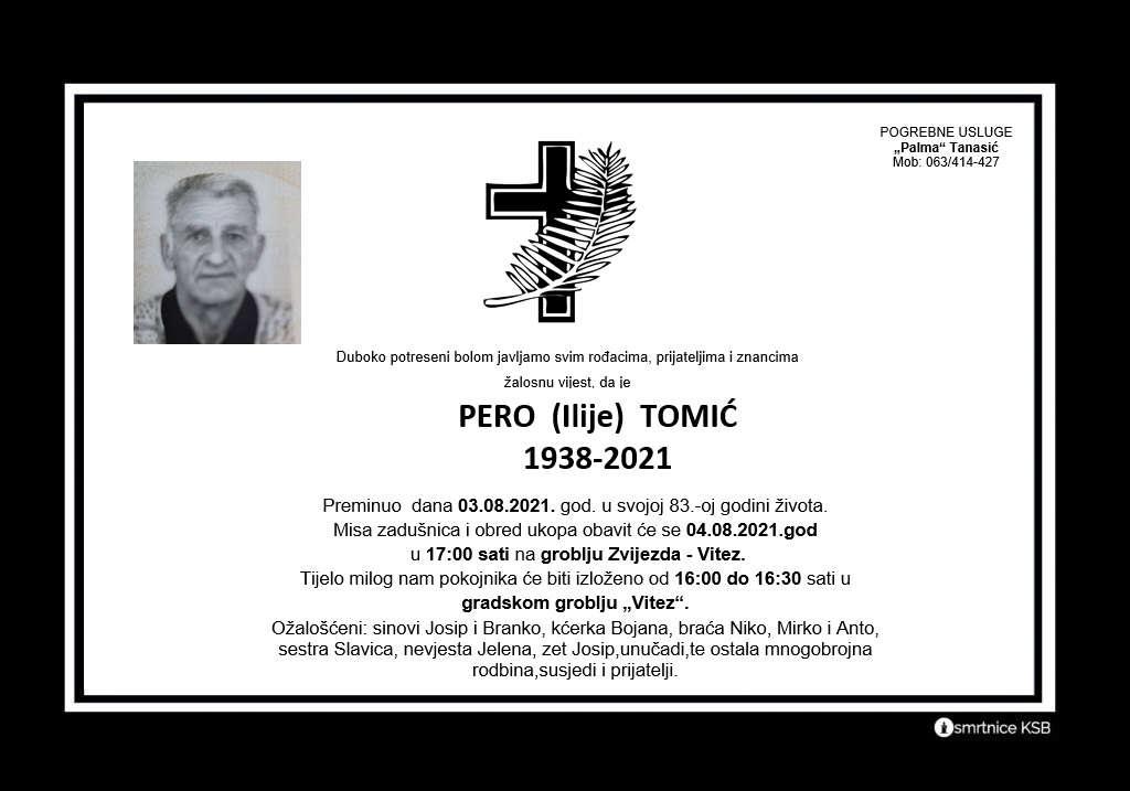 Preminuo Pero Tomić
