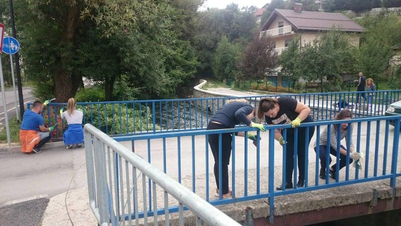 (FOTO) Uposlenici Općine Travnik i danas u akciji čišćenja