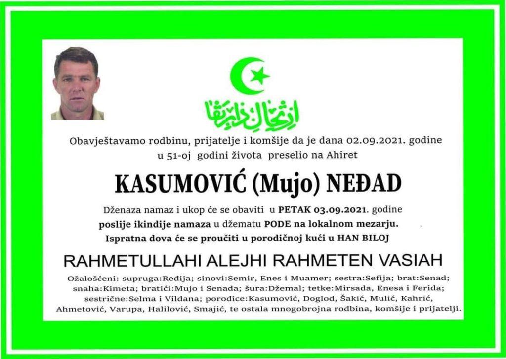 Preminuo Neđad Kasumović