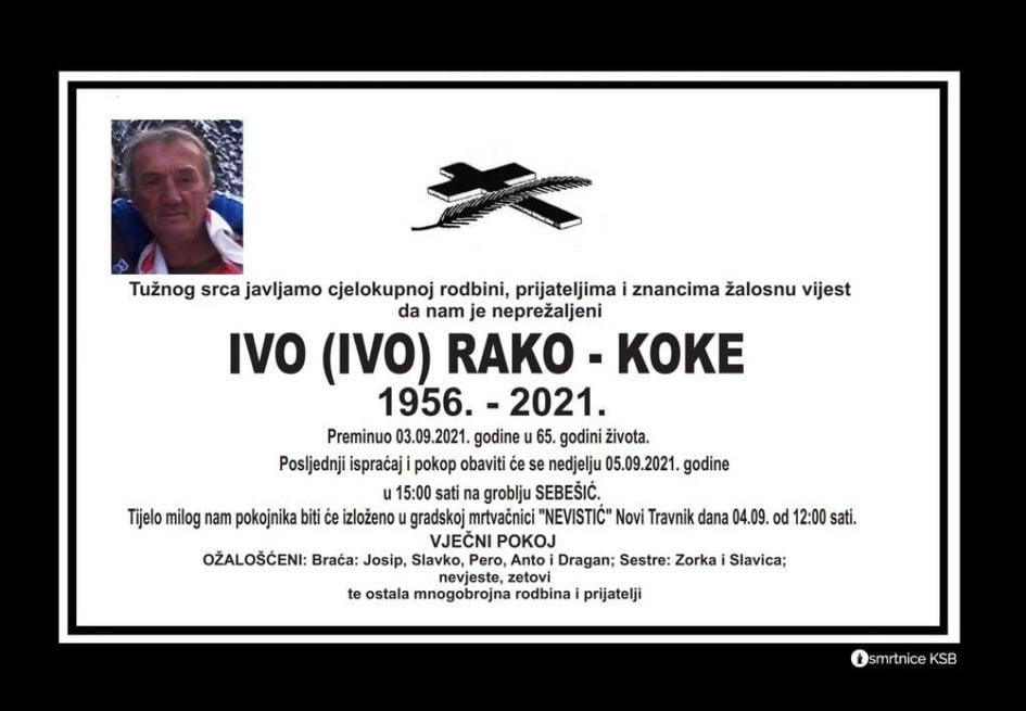 Preminuo Ivo Rako - Koke