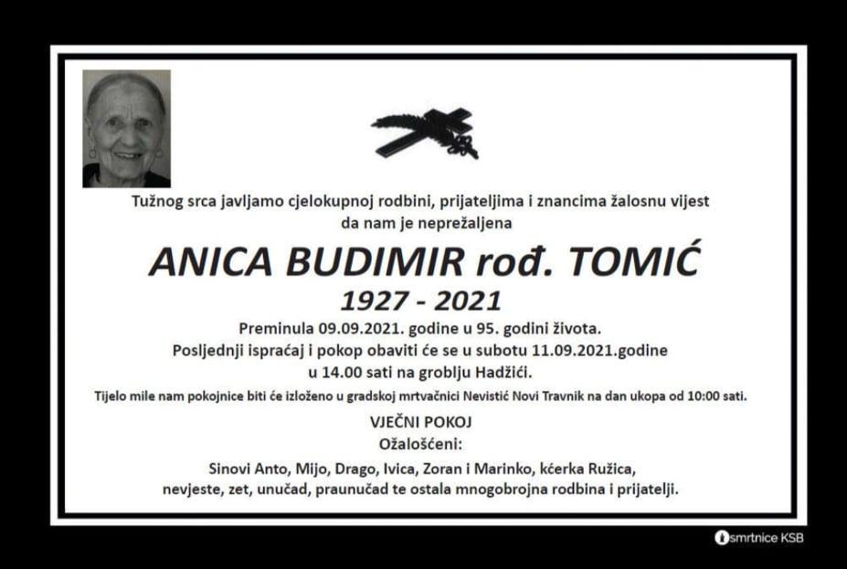 Preminula Anica Budimir