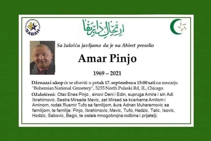 Preminuo Amar Pinjo