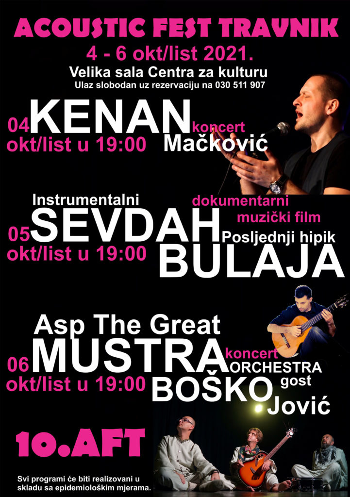 Bogat program i dobra zabava / Uskoro jubilarni 10. Acoustic Fest u Travniku