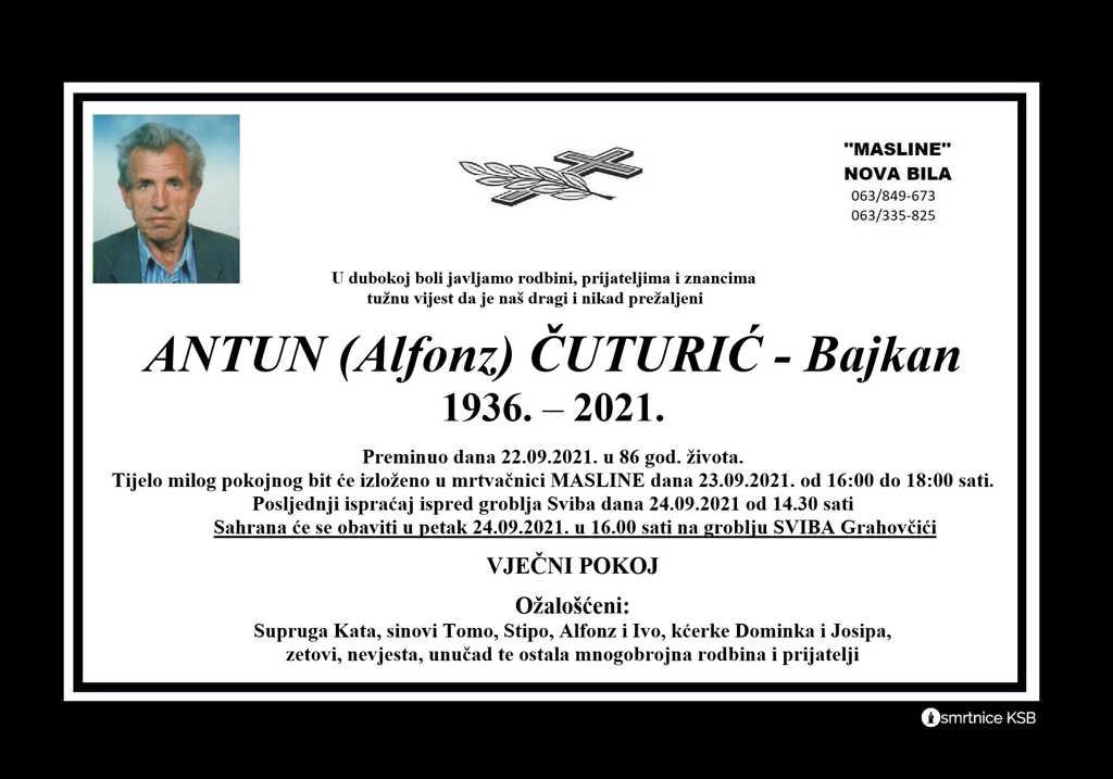 Preminuo Antun Čuturić - Bajkan